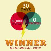 2012 nanowrimo win
