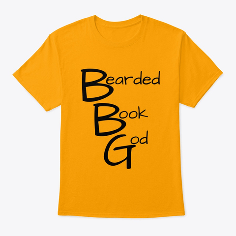 bearded book god shirt